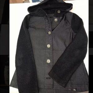 Women's Prana Hooded Jacket Black/Gray